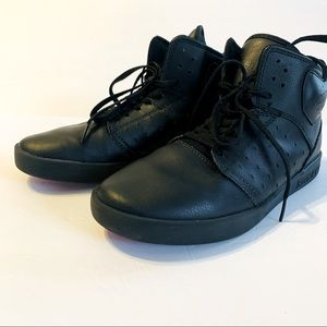 SUPRA Kid's Black Atom High-Top Sneaker Unisex 6